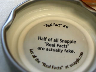 Snapple Real Fact 0